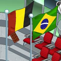 Mascote Pistola: Brasil X Bélgica